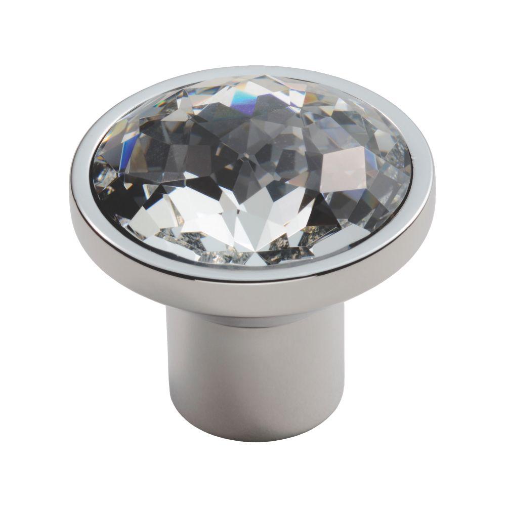 Carlisle Brass Crystal Round Furniture Knob Matt Nickel 34mm