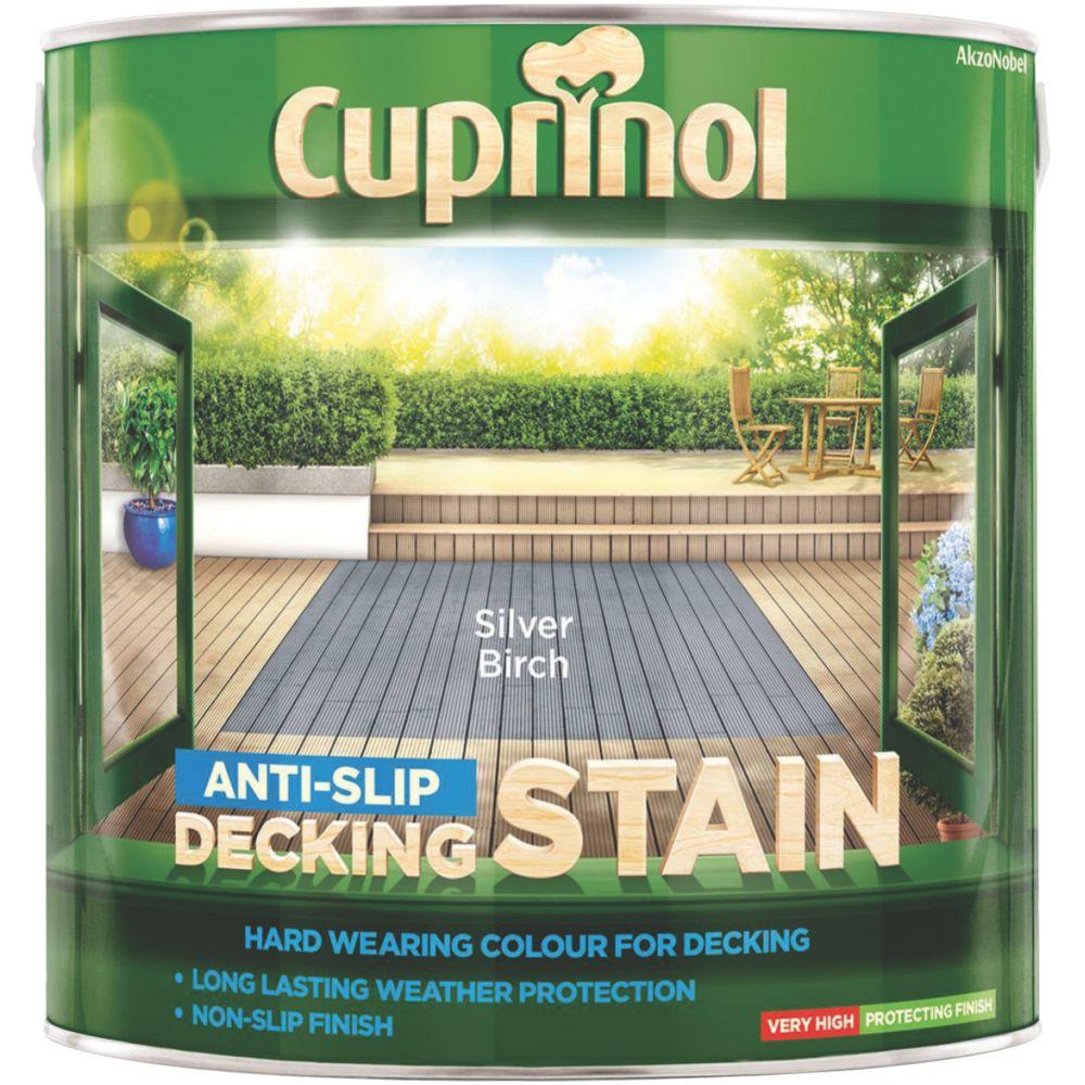Cuprinol Anti-Slip Decking Stain Silver Birch 2.5Ltr