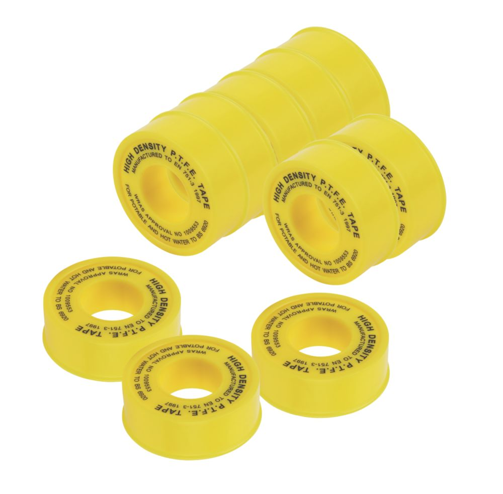 PTFE Tape for Gas 5m x 12mm 10 Pack