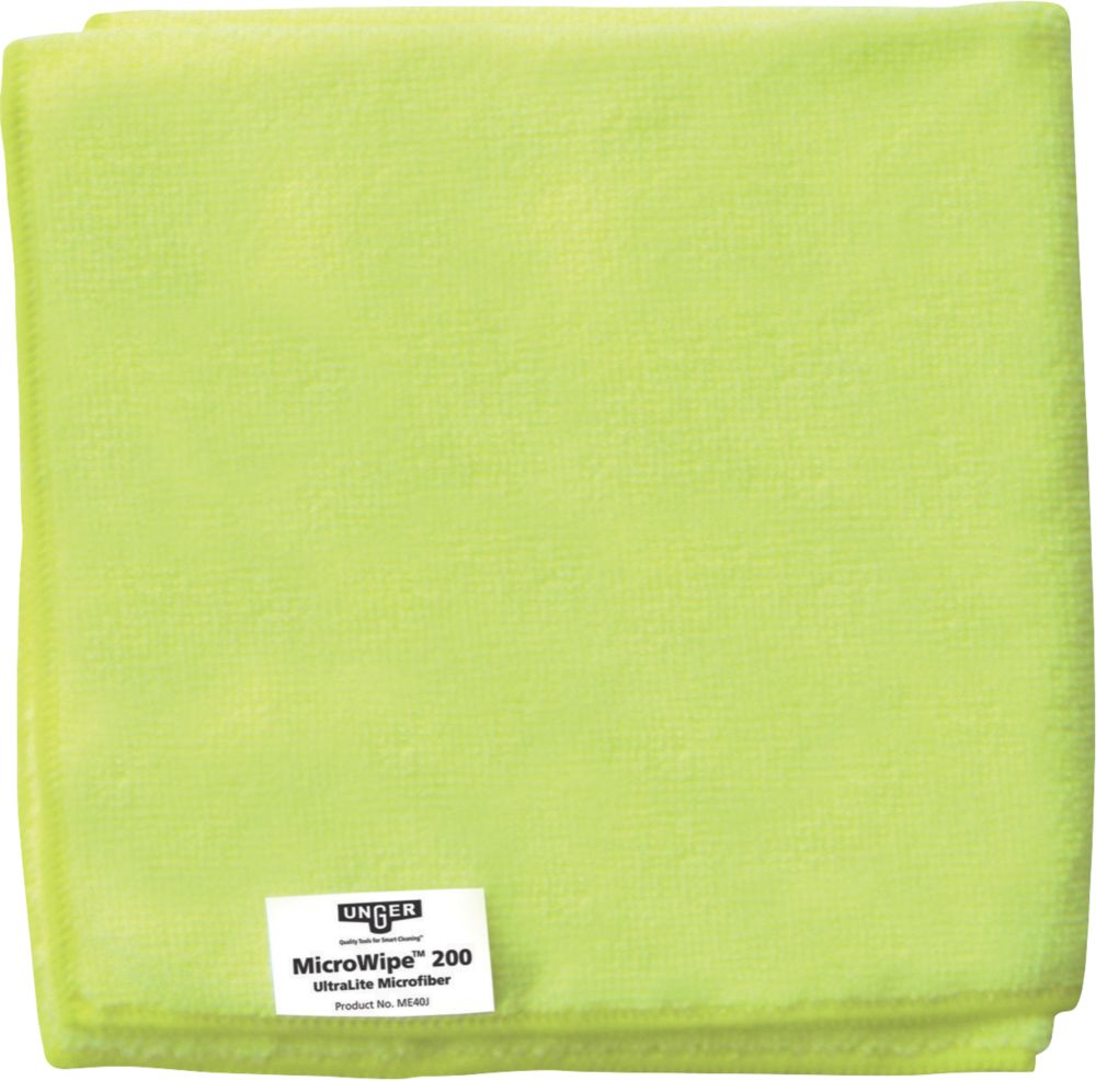 Unger Microfibre Cloths Yellow 400 x 400mm 10 Pack