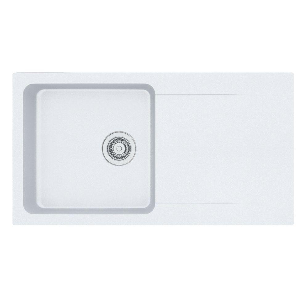 Franke Orion Tectonite Inset Kitchen Sink White 1 Bowl Reversible 940 x 510mm