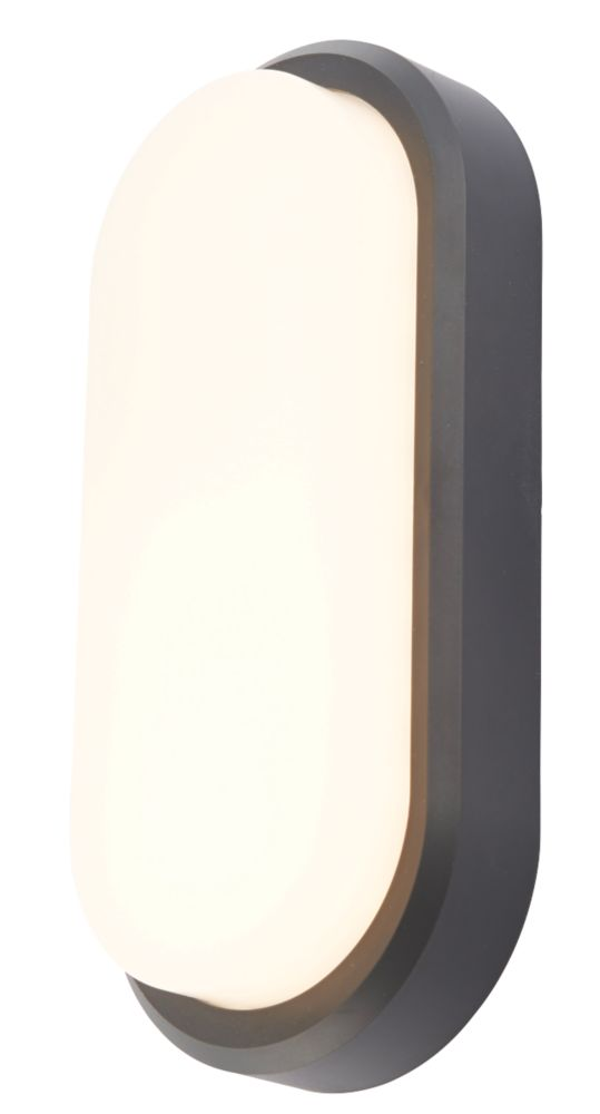 Almond Oval LED Oval Bulkhead Black 6W