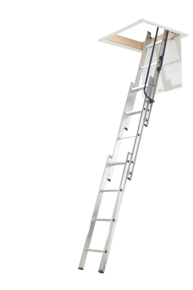3-Section Aluminium Loft Ladder 3m