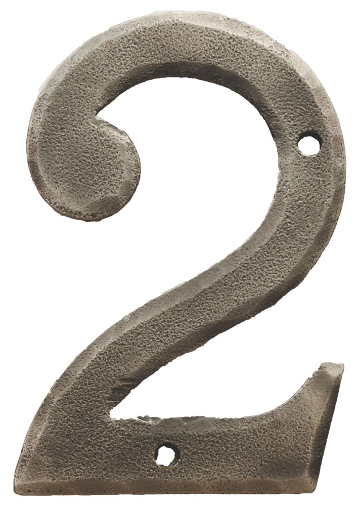 Carlisle Brass Ludlow Door Numeral 2 Pewter Effect 78mm