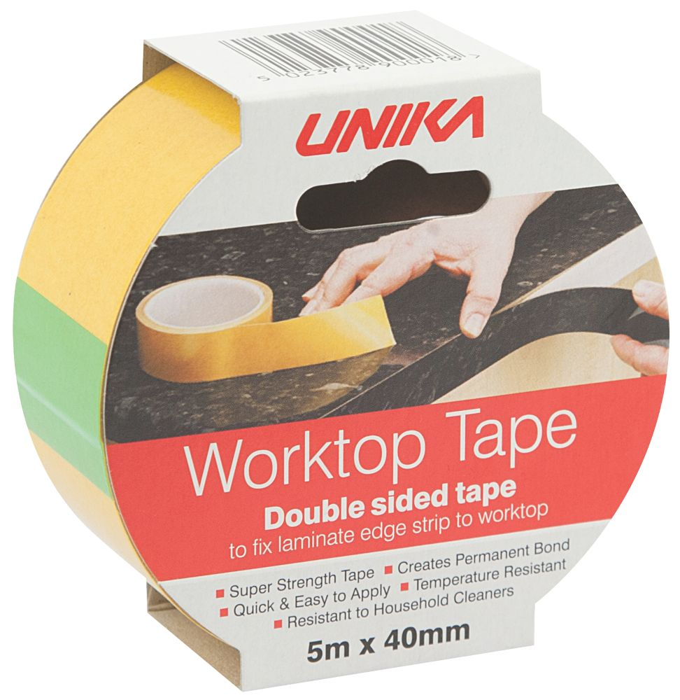 Unika PVC Adhesive Worktop Tape 40mm x 5m
