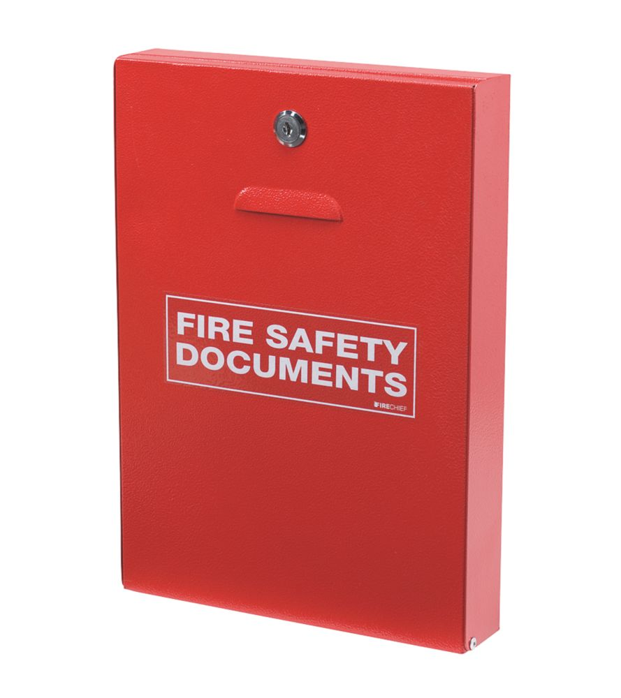 Firechief  Key Lock Fire Document Cabinet 252 x 60 x 350mm Red