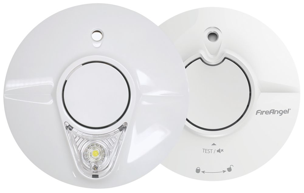 FireAngel ST-625-6233-R Thermoptek Smoke Alarm Twin Pack 2 Piece Set