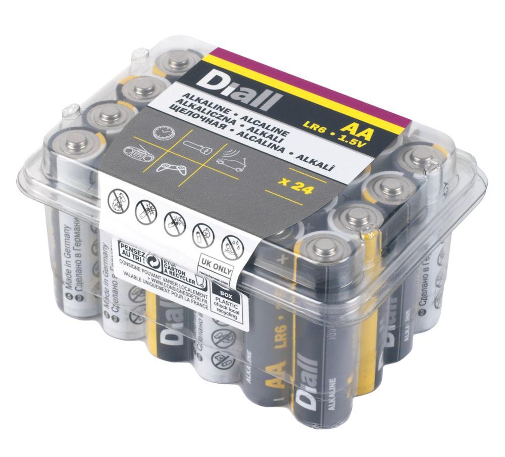 Diall Alkaline AA Batteries 24 Pack
