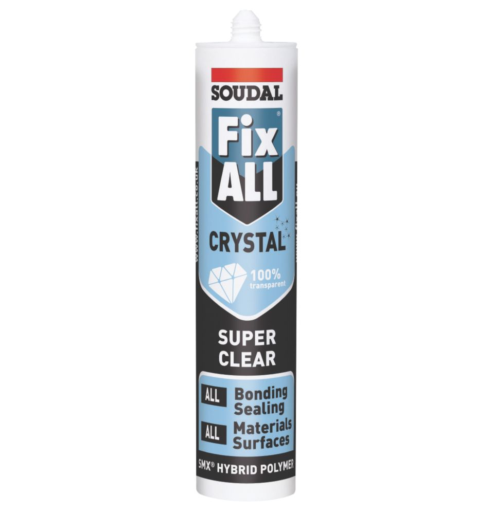 Soudal Fix All Sealant & Adhesive Crystal 290ml