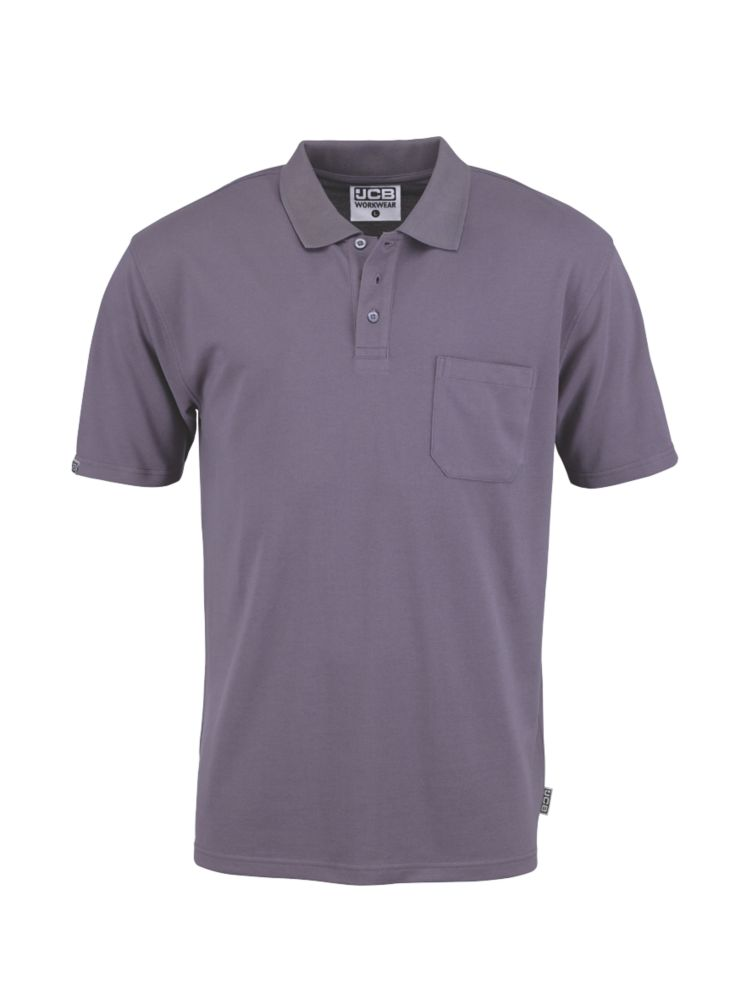 "JCB Essential Polo Shirt Grey Large 42"" Chest"