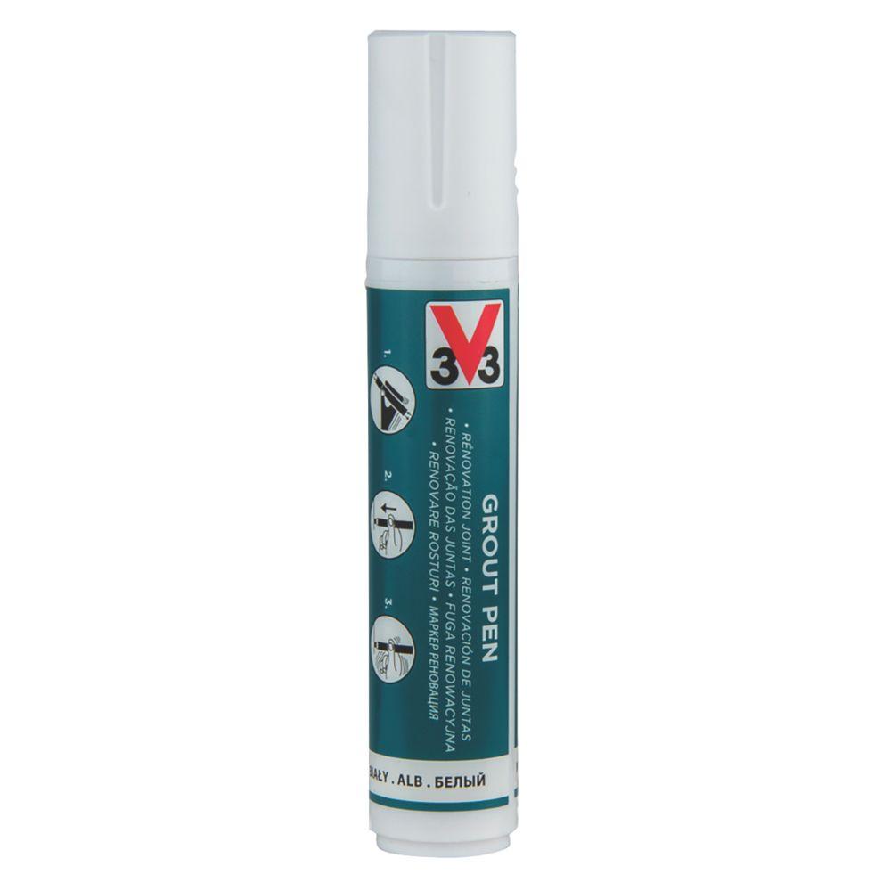 V33  Grout Pen White 15ml