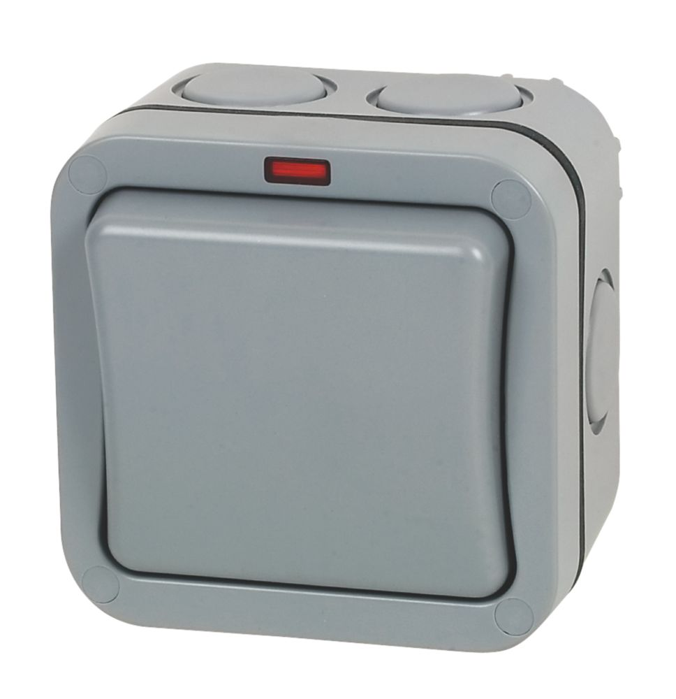 British General  IP66 20A 1-Gang 2-Way Weatherproof Outdoor Switch with Neon
