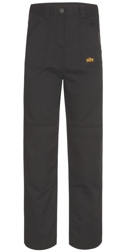 "Site Beagle Ladies Trousers Black Size 12 32"" L"