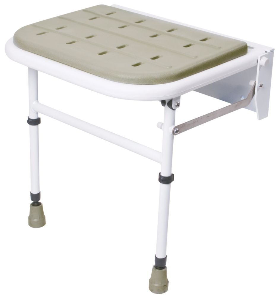 Nymas Wall-Mounted Padded Shower Seat Grey
