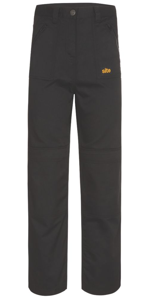 "Site Beagle Ladies Trousers Black Size 10 32"" L"