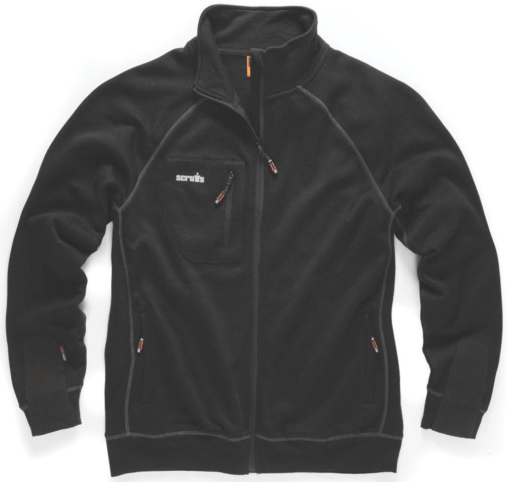 """Scruffs Delta Sweatshirt Black Large 44"""" Chest"""