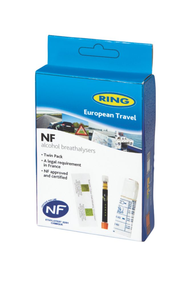 Ring RCTBR3 Disposable European Travel Breathalysers Twin Pack