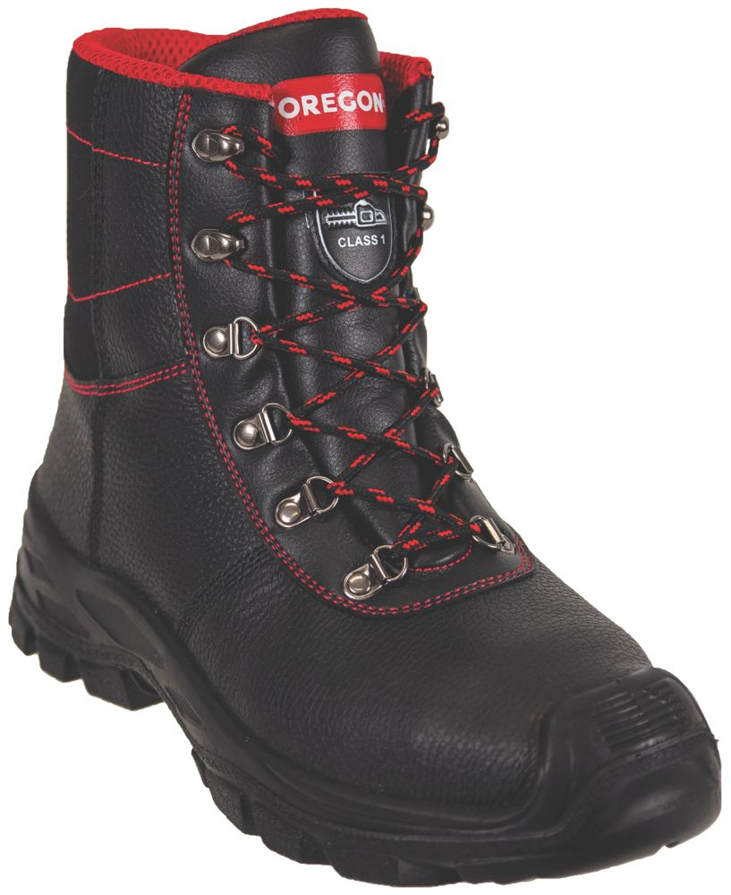 Oregon Sarawak  Safety Chainsaw Boots Black Size 9