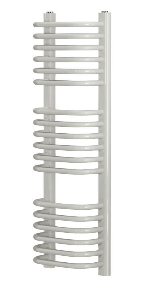Blyss CAP22GC037 Curved D-Bar Towel Radiator 900 x 300mm White 1323BTU
