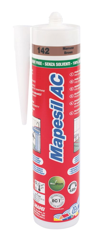 Mapei Mapesil Solvent-Free Silicone Sealant Brown 310ml