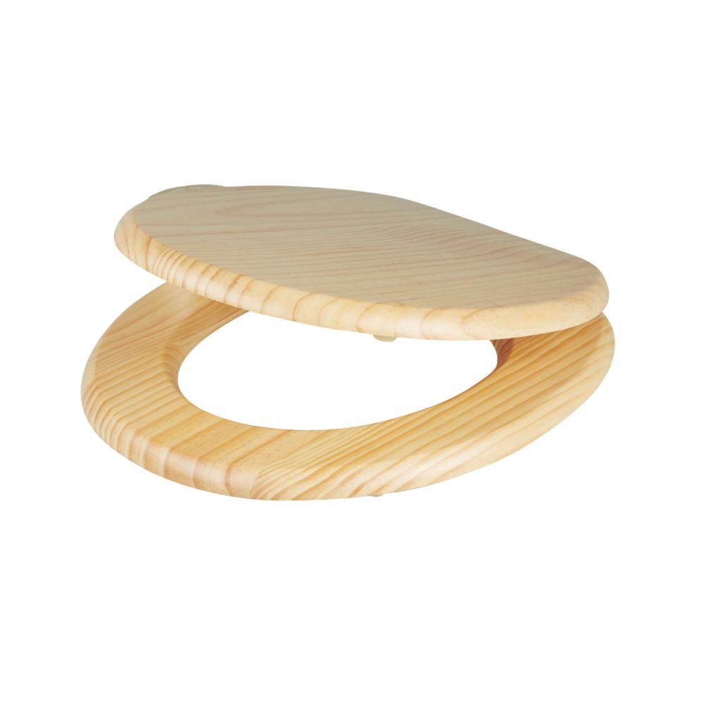 Cooke & Lewis  Standard Closing Toilet Seat Pine Natural