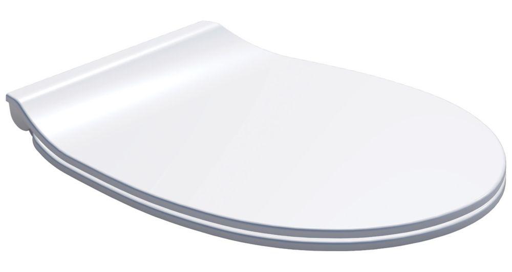 Carrara & Matta Ancona Soft-Close with Quick-Release Toilet Seat Thermoset Plastic White