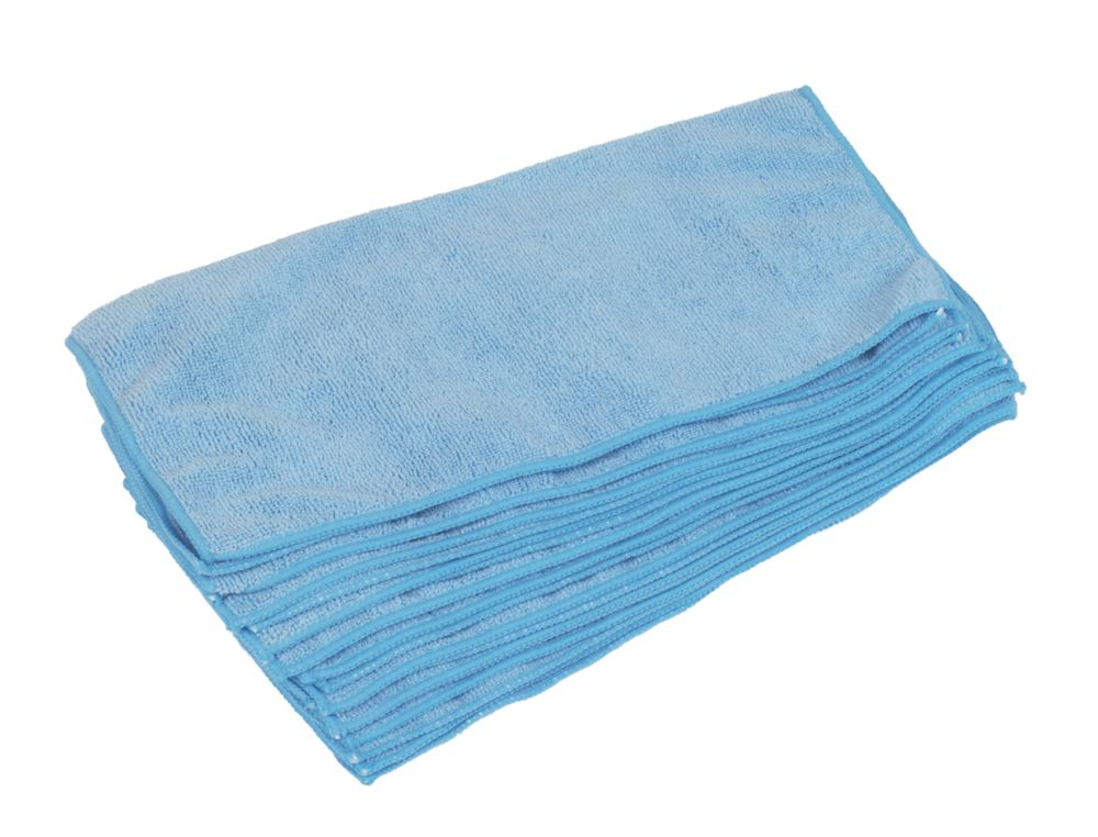 Microfibre Cleaning Cloths Blue 380 x 380mm 10 Pack
