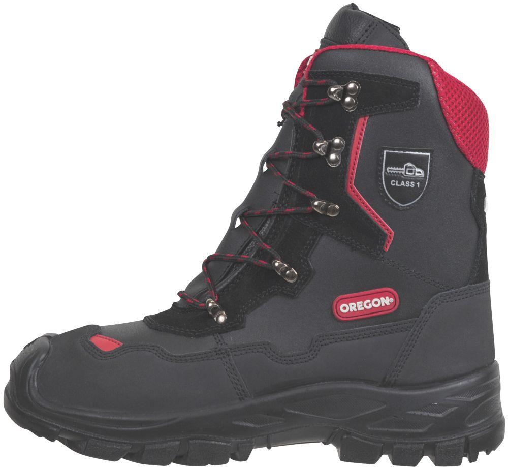 Oregon Yukon  Safety Chainsaw Boots Black Size 8