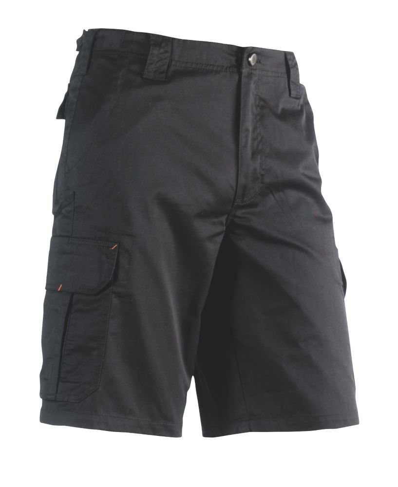 "Herock Tyrus Work Shorts Black 34"" W"