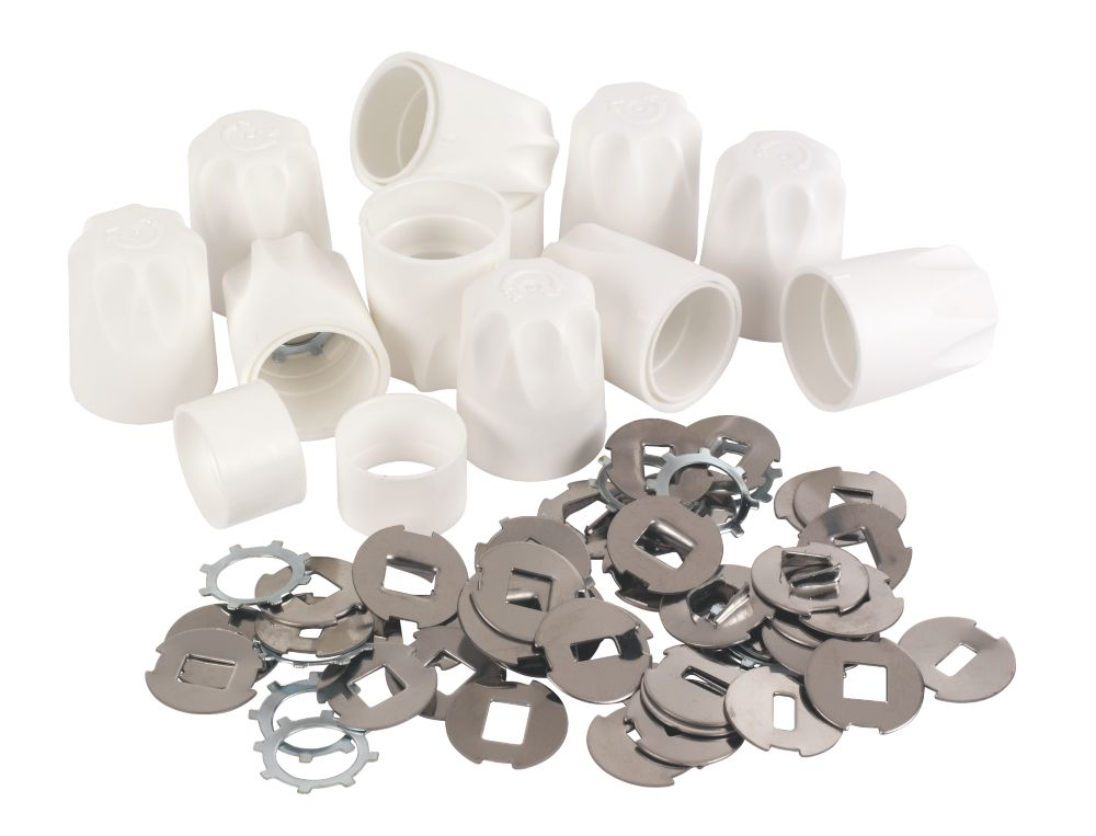 Replacement Safety Radiator Valve Caps White 10 Pack