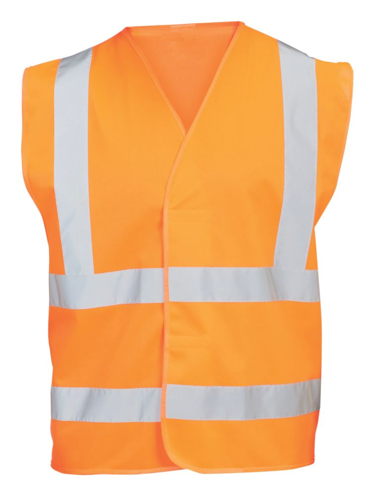 "Hi Vis Waistcoat Orange XX Large / XXX Large 51¾"" Chest"