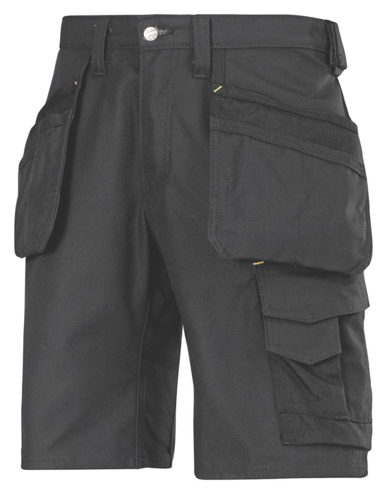 "Snickers 3014 Craftsmen Multi-Pocket Shorts Black 36"" W"