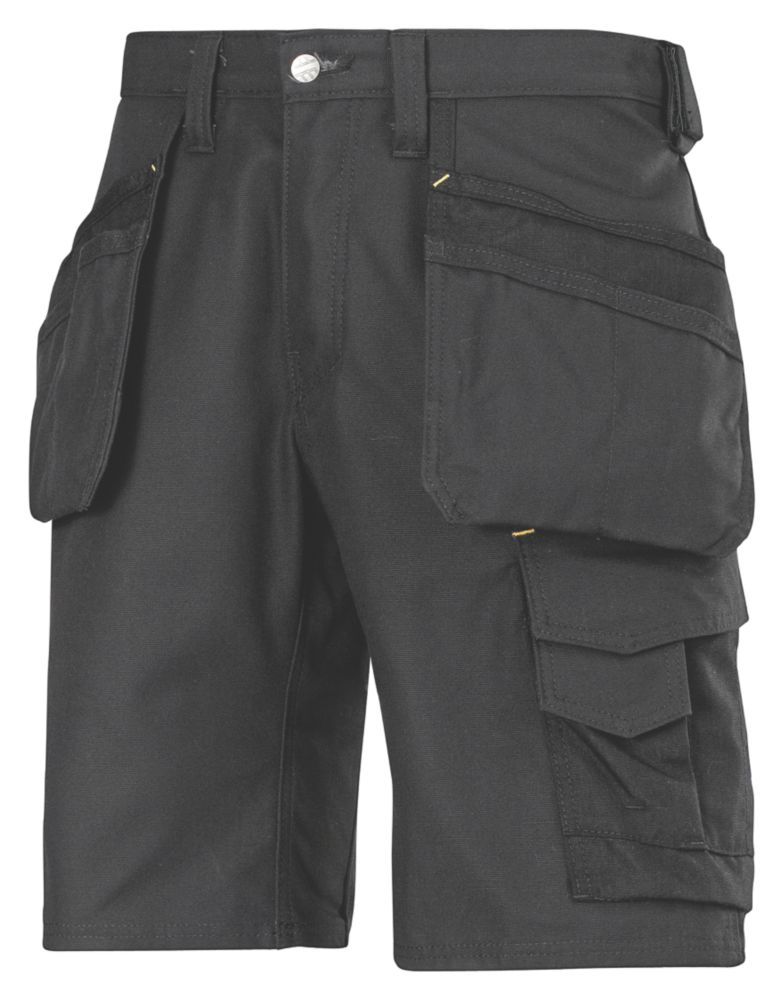 "Snickers 3014 Craftsmen Multi-Pocket Shorts Black 41"" W"