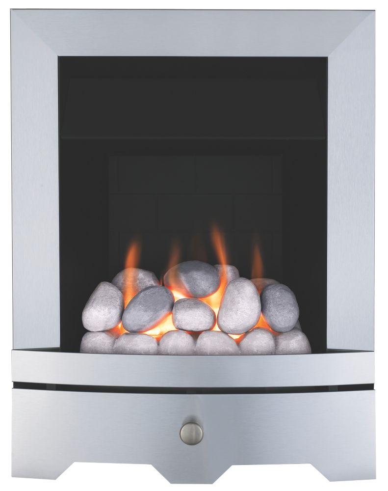 Valor Seattle Silver Rotary Control Inset Gas Fire