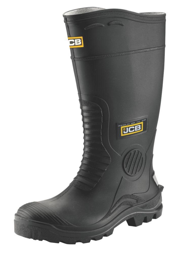 JCB Hydromaster   Safety Wellies Black Size 8