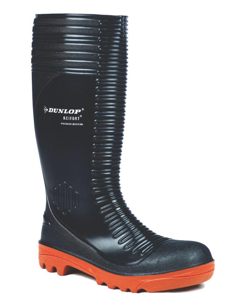 Dunlop Safety Acifort A252931   Safety Wellies Black Size 7
