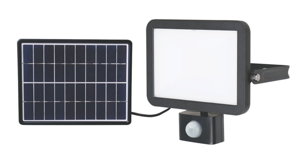 LAP RB0258A LED Solar Floodlight With PIR Sensor Black