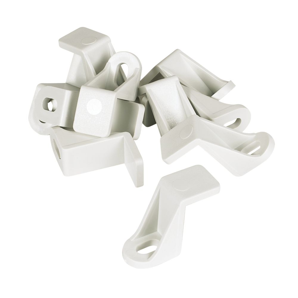 Manrose Rectangular Flat Channel Support Clip White 225mm 10 Pack