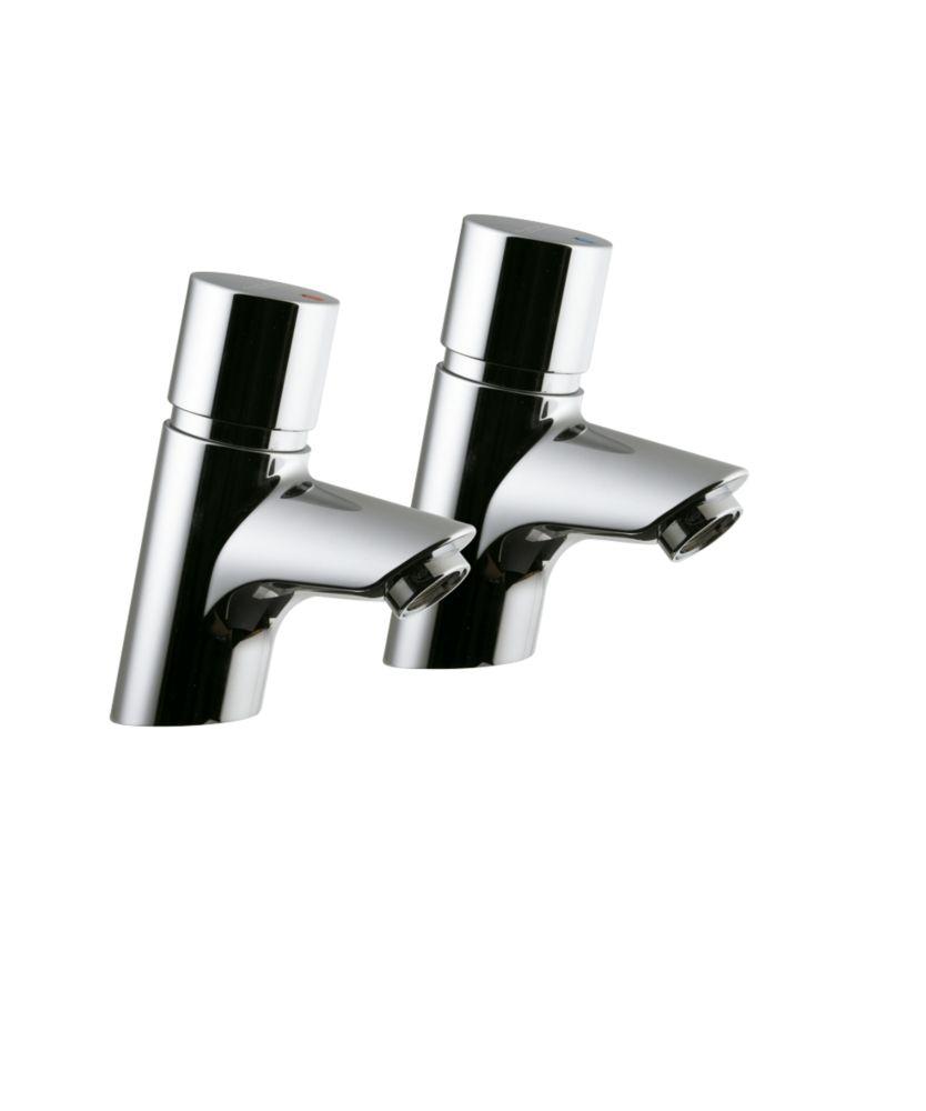 Armitage Shanks Avon 21 Self-Closing Basin Pillar Taps Chrome