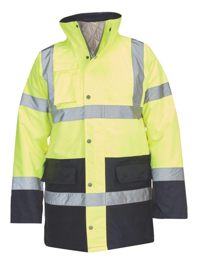 "Hi-Vis Traffic Jacket Yellow / Blue X Large 58"" Chest"