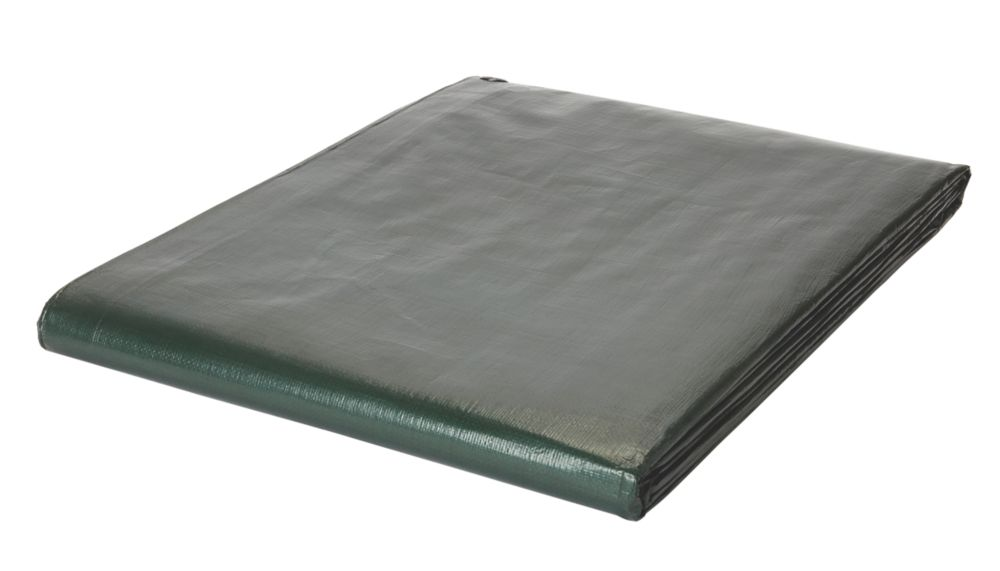 Tarpaulin Sheet Green / Brown 4 x 5m