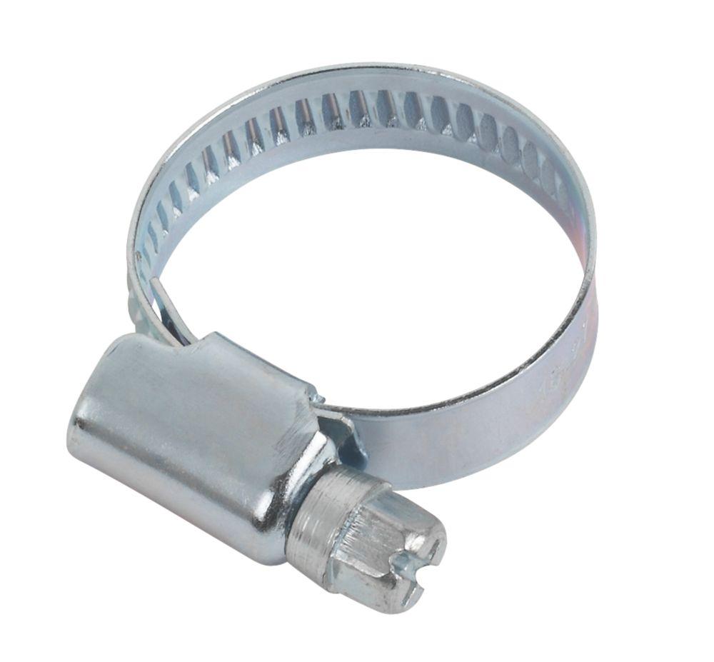 Easyfix Blue Zinc-Plated Hose Clips 16-25mm 10 Pack