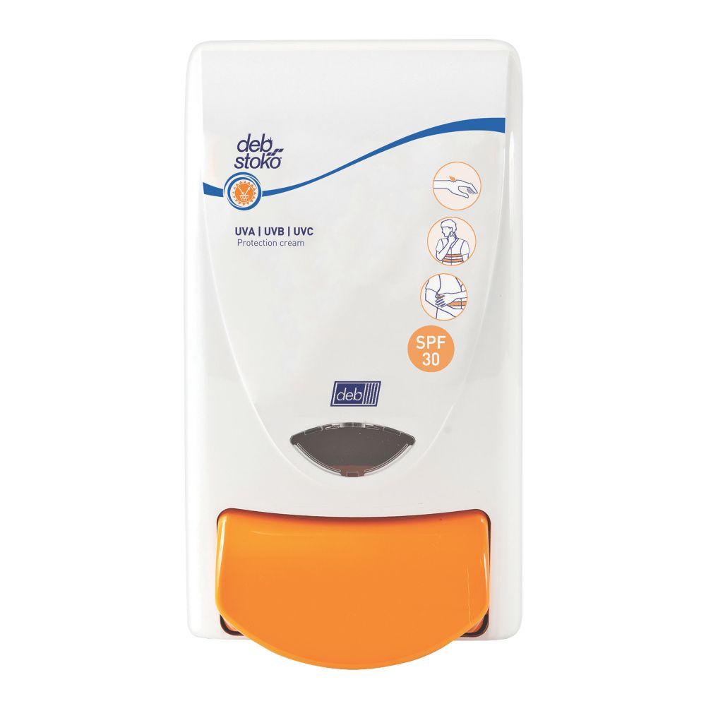 Deb Stoko White Sun Protect Cream Dispenser 1Ltr