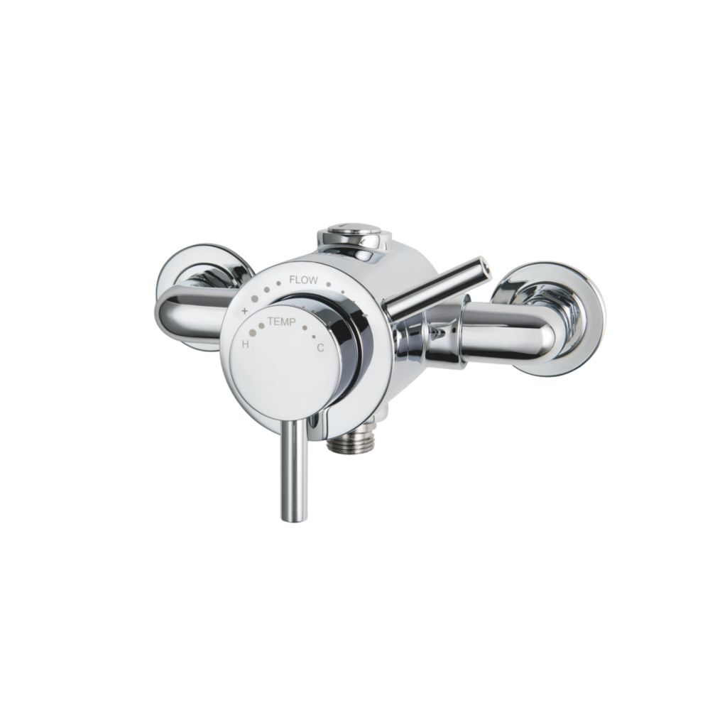 Triton Elina Exposed Mixer Shower Valve Fixed Chrome