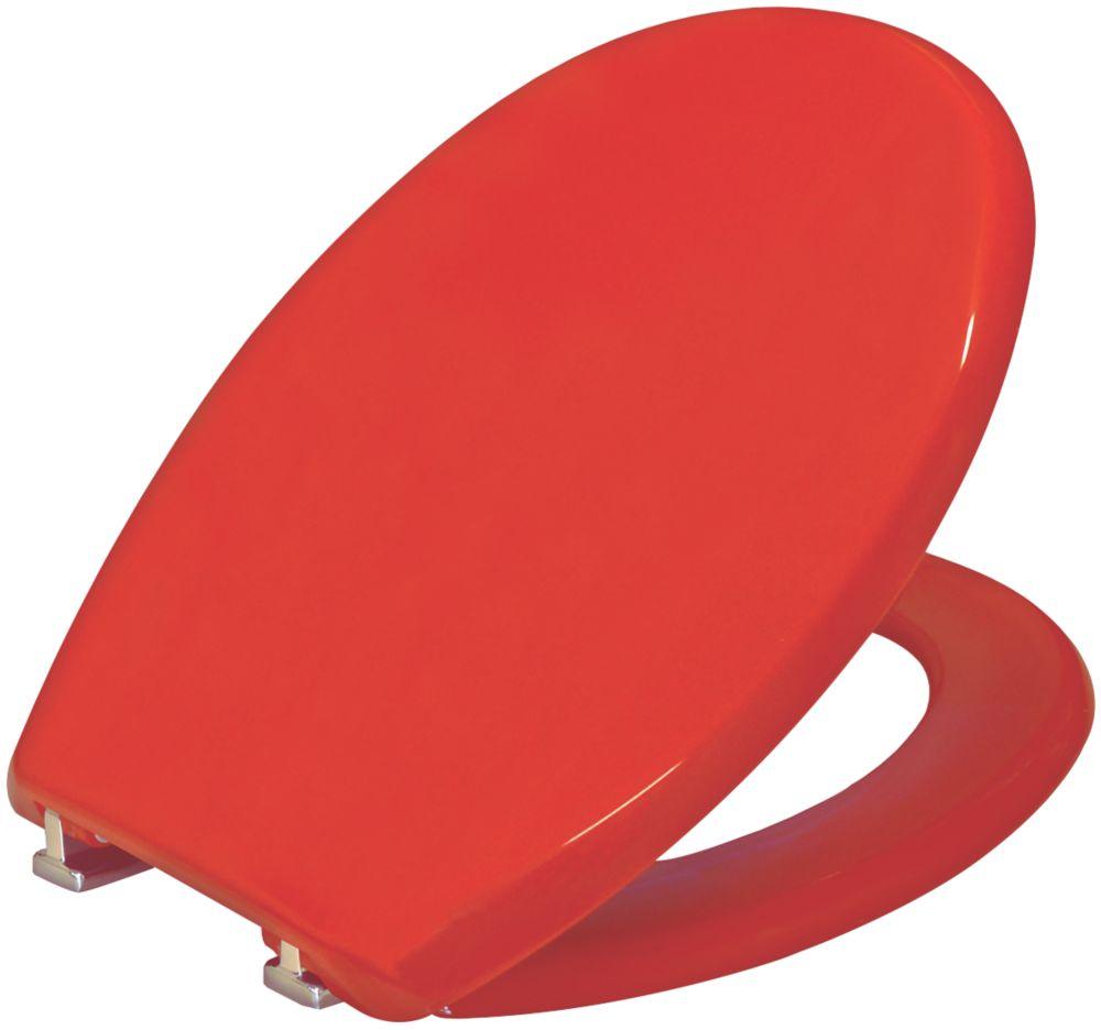 Carrara & Matta Atlantic Spa Standard Closing Toilet Seat Thermoplastic Red