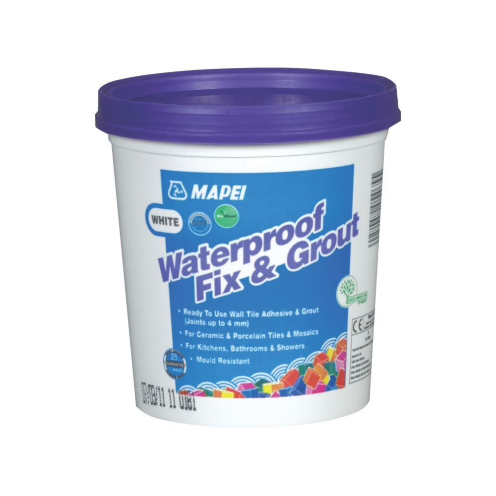 Mapei  Waterproof Fix & Grout White 1.5kg