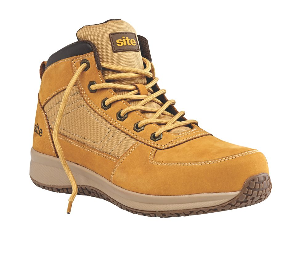 Site Sandstone   Safety Trainer Boots Wheat Size 12