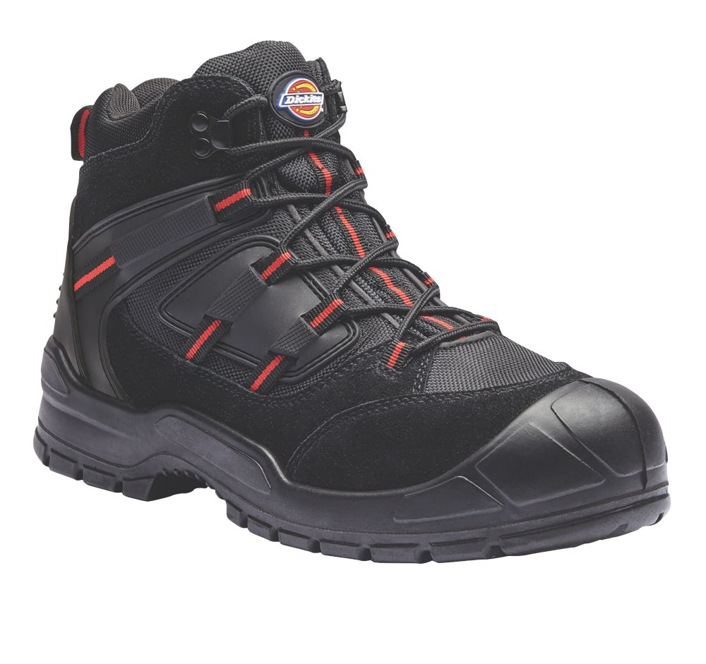 Dickies Everyday   Safety Trainer Boots Black / Red Size 10
