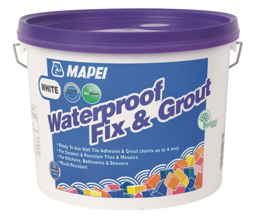 Mapei  Waterproof Fix & Grout White 7.5kg