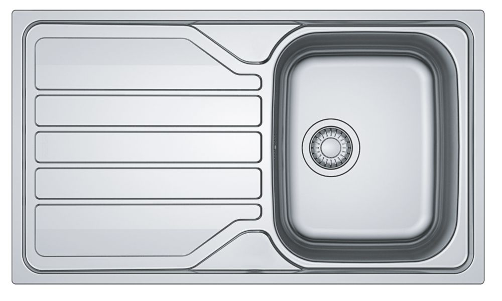 Franke Flash Sink Stainless Steel 1 Bowl 860 x 500mm